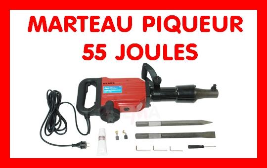 Marteau piqueur 55 joules - AH1800 - 1800 W - 1400 Tr/min