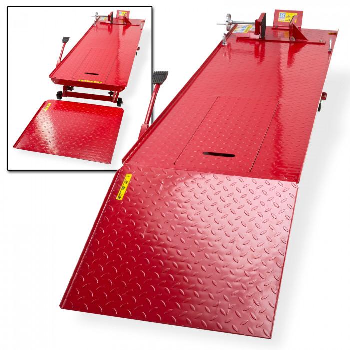 Pont élévateur moto longueur table 2770 mm avec rampe
